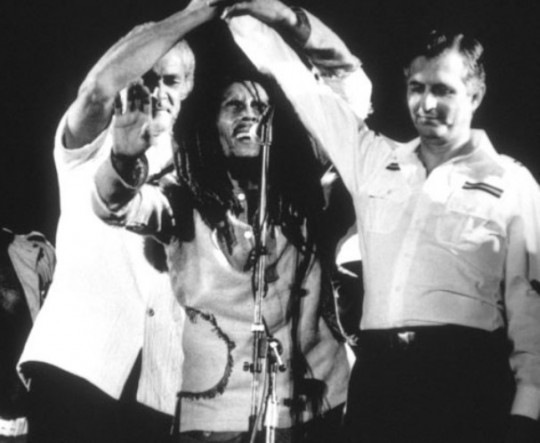 bob marley Michael Manley Edward Seaga One Love
